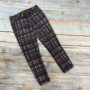 Tory Burch Conner Plaid Skinny Jeans 26